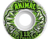 Diseño Ilustración para Marca de Ruedas: Animal.