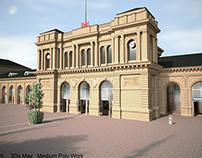 Low Poly DB Train Station(Mainz Germany)