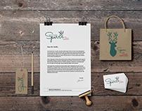 Branding, Logodesign / Floral Deer