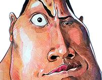 "Dwayne ""The Rock"" Johnson Cartoon"