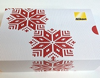 NIKON- xmas chocolate box and leaflet