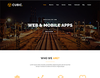 Cubic - One Page Responsive WordPress Theme