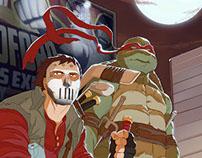 TMNT: casey jones and Raph