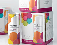 Seven Daughters Canned Wine Packaging & Logo Design