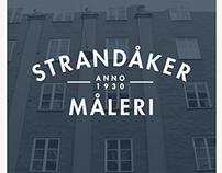 New logo and branding for Strandåker Måleri.