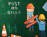 NYC Illustrations: Post No Bills