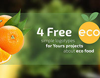 4 FREE simple eco food logotypes