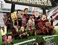 Illustrations for the book ,,Shyton United''