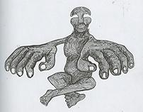 Man Hands Line Doodle