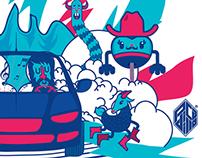 Ilustración para Grupo Auto Fin Monterrey