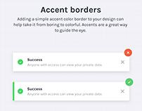 Accent border