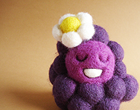 """Grapey Sue"" textile art toy"