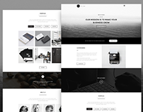 Freebie - Vintage Single Page PSD Theme