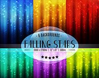 Falling Stars | Digital Backgrounds