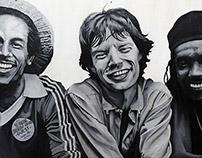 Bob Marley, Mick Jagger and Peter Tosh, 1978