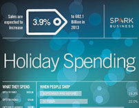 Spark Business Holiday Spending Infographic