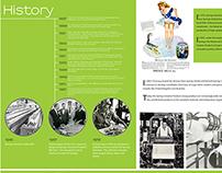 Corporate brochure layout - company history