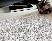Handmade doodle illustration