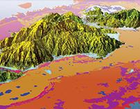 3D Map - Guanaja Island