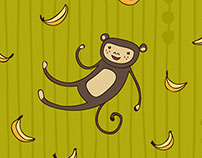 Monkey & Banana Pattern