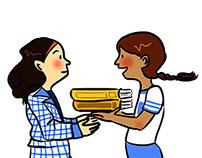 Ilustraciones para textos escolares