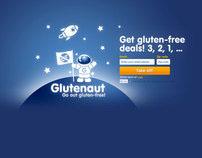 Web design for Glutenaut, gluten-free deals