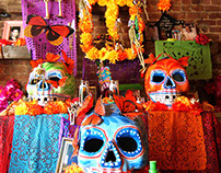Day of the Death Altar for the Mexican Restaurant