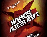 Wings Alternative Futuristic Flyer Design
