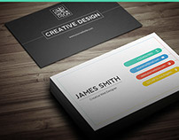 Creative & Minimal Business Card Template Vol 2