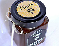"""Pinea"" packaging for pine tree honey (from Chalkidiki)"