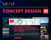 Concept design for research institute | UX & UI