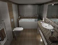 Ανακαίνιση μπάνιου με πλακάκια από την σειρά JOY
