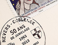 Assoc Philatélique de Nevers - Cachet / Stamp creation.