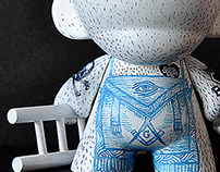 Freemason Munny Custom Toy by Kokimoto