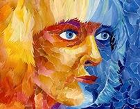 Paper-collage Self-portrait
