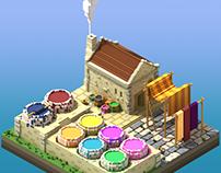 Silk dyeing house