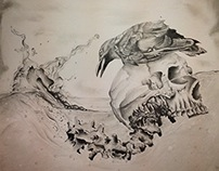 death philosophy pencil drawing