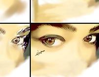 eyes drawing on sketchbook app