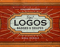 Mega Bundle: Logo/Badge Templates & Shapes