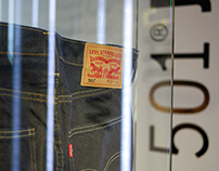 Levi's Icons Display. Haus of Strauss. Hollywood, CA