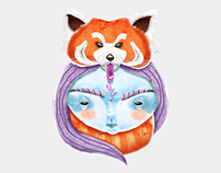 Huriyah & Red Panda T-Shirt