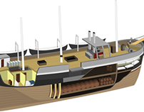 Whaleship Illustration