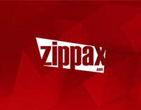 Zippax official website's design