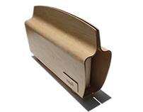 Bentwood Clutch Handbag