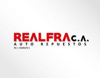 logo y papelería para REALFRA C.A.