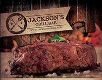 Grill Restaurant Promotion Flyer Template