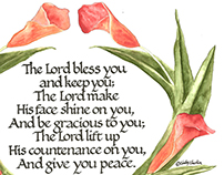 Floral Designs with Scripture Verses