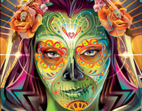 GUARDIANS - Dia De Los Muertos OFFICIAL MARVEL Vector