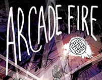 Arcade Fire - screen print poster