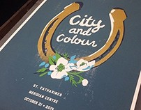 City and Colour screen print poster